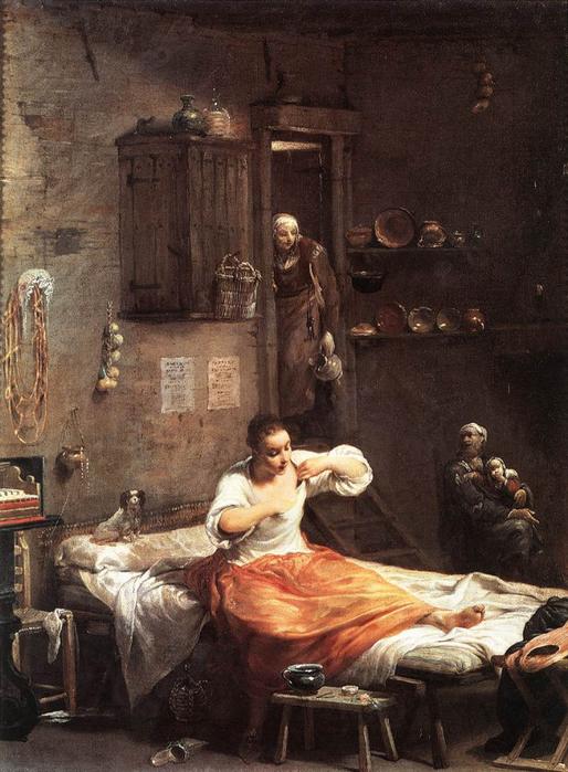 ловля блох в картинах художников 6 (514x700, 382Kb)