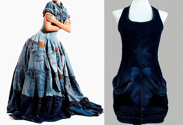 Сшить платье из старых брюк 26