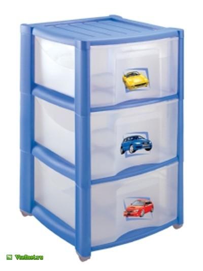 Комод детский Пластишка, на колесах, 3 секции (400x533, 32Kb)