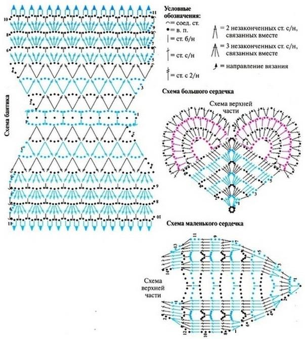 вязание крючком бантик схема Соловьи