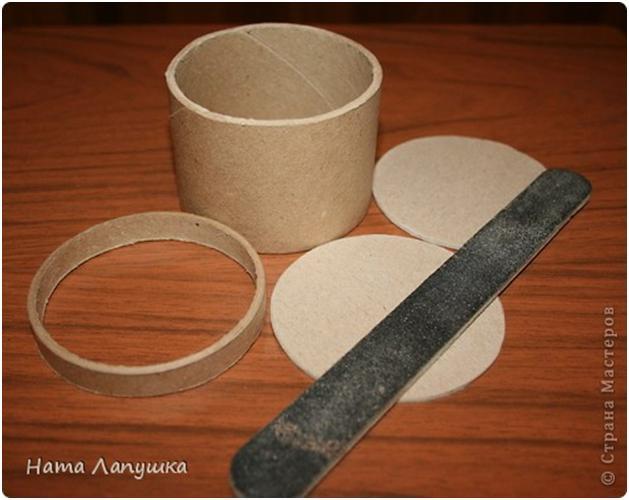 آموزش ساخت صندوقچه مقوایی Круглая шкатулка из шпажек :: Мастерская
