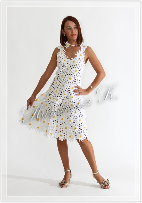 платье на девочку двух лет крючком