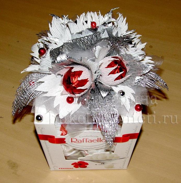 Как украсить коробку с конфетами своими руками фото