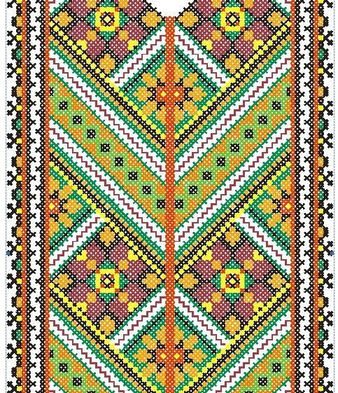 Подборка вышиванок мужских, вышивка крестом, схемы.  Часть 32.