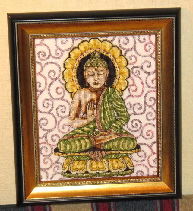 Будда, вышивка крестом, схемы