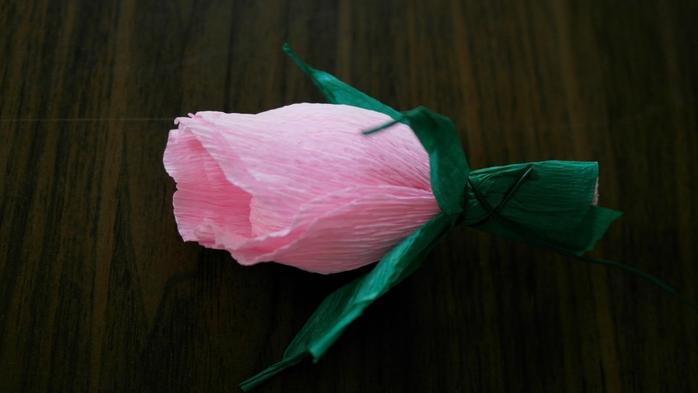 Букет тюльпанов из гофрированной бумаги. Фото мастер-класс (13) (700x393, 141Kb)