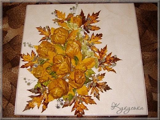 Картина из листьев своими руками