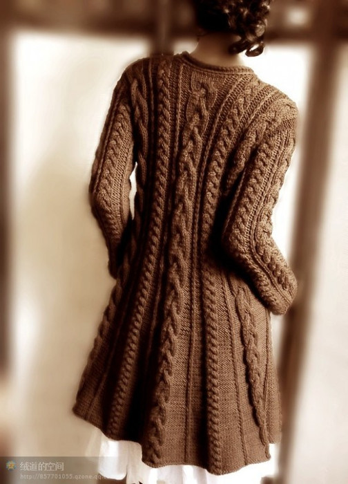 Вязанные тапочки с мехом