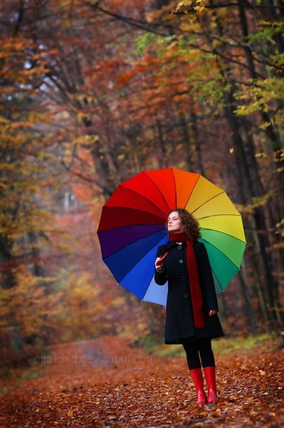 осень зонт (399x600, 249Kb)