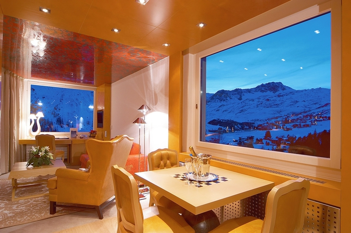 Tschuggen Grand отель в швейцарских альпах фото 9 (700x465, 257Kb)