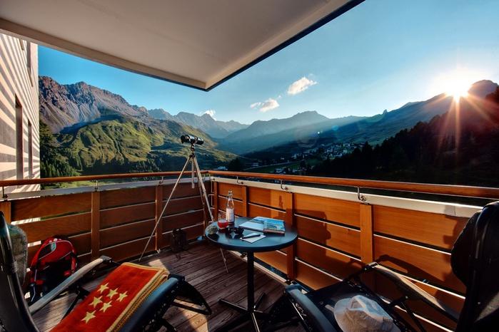 Tschuggen Grand отель в швейцарских альпах фото 11 (700x466, 263Kb)