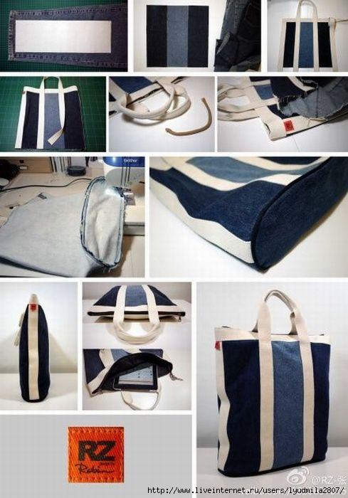 Схемы сумок своими руками из джинсов