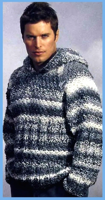 Пуловер С Капюшоном Мужской