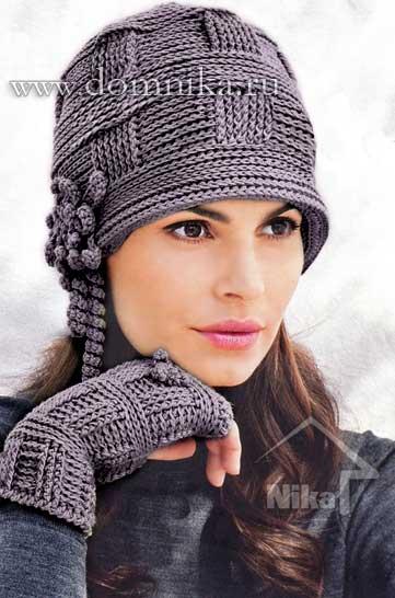 Модель вязаной шапки из