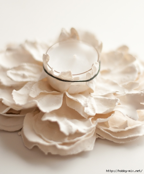 Plaster-Flower-Votives-6 (500x604, 132Kb)