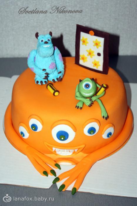 торт корпорация монстров фото