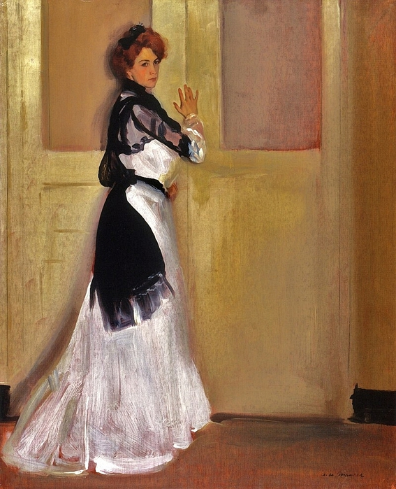 1_Alfred_Henry_Maurer_(American_painter,_1868-1932)_Girl_In_White_1901 (567x700, 313Kb)