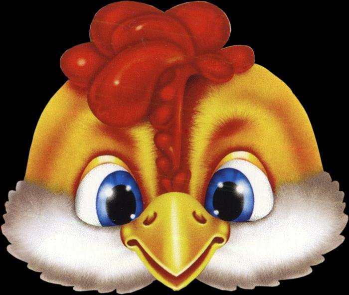 Маска курицы из бумаги