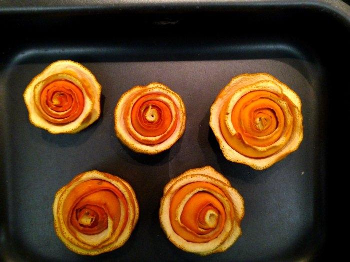 Розочки из апельсиновых корочек. Букет апельсиновых роз для украшения интерьера (12) (700x525, 181Kb)