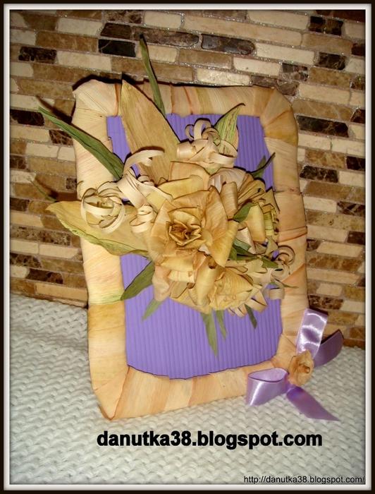 букет цветов из листьев кукурузы - талаша, мастер-класс (38) (532x700, 304Kb)
