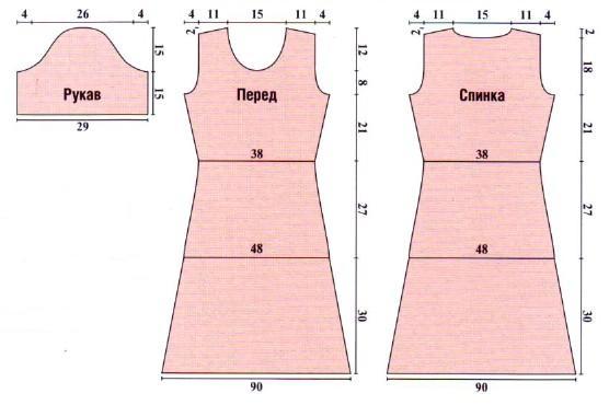 Выкройка платья р 46-48