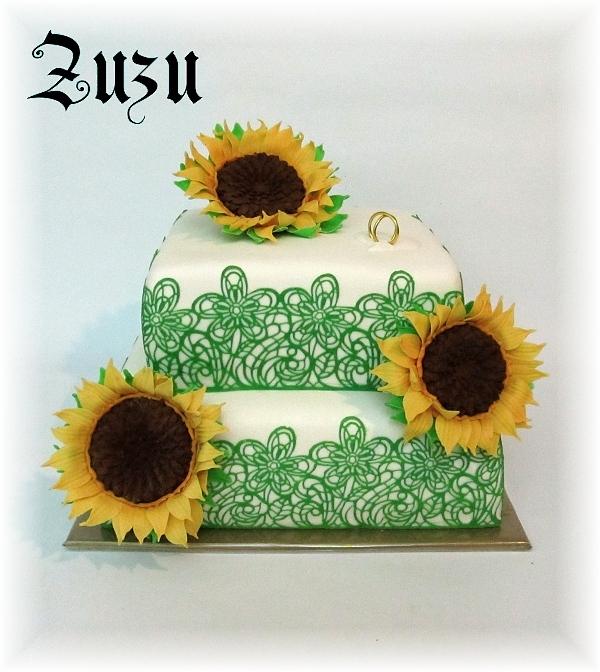 Подсолнух из сахарной мастики для украшения 3D торта (25) (600x672, 299Kb)