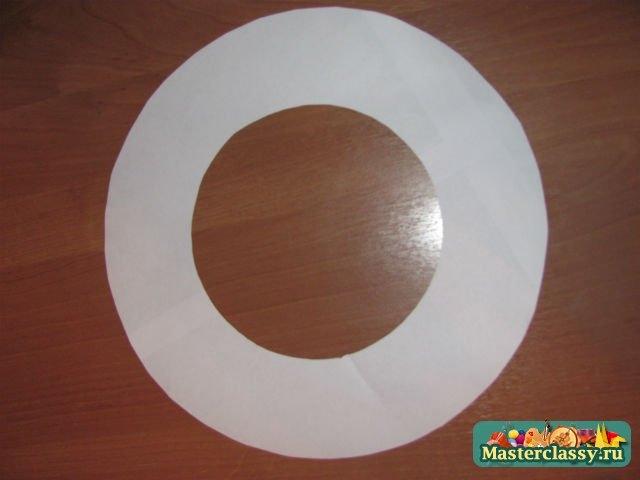как сделать чтобы кра¤ бумажной шл¤пы не скручивались