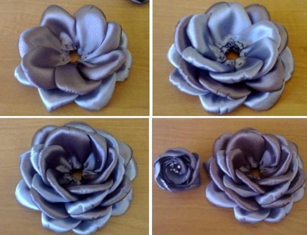 Пошаговая инструкция роз из лент