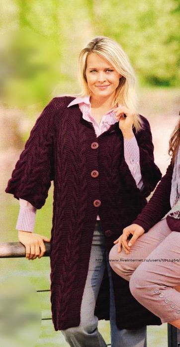 Фото схемы вязания пальто 55