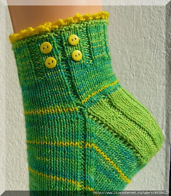 """针织袜子:""""蒲公英"""" - maomao - 我随心动"""