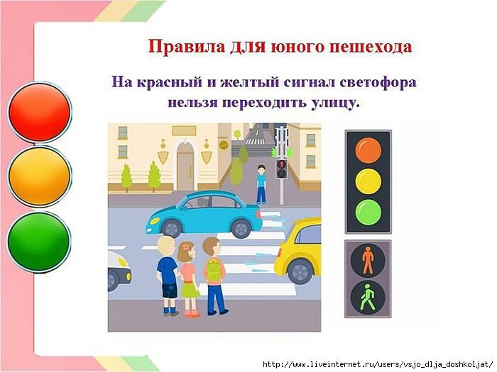 Правила для пешехода при переходе - a