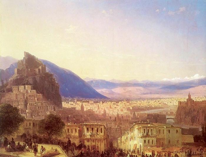 Вид на Тифлис. 1868 год (700x534, 267Kb)
