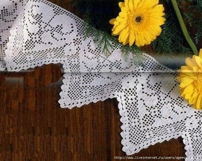 зубчатая кайма вязание