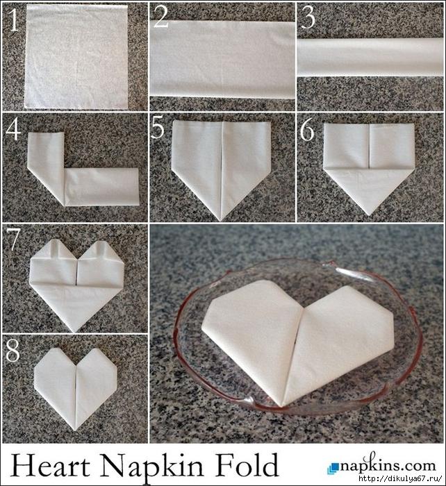 Как сделать сердечко из салфетки