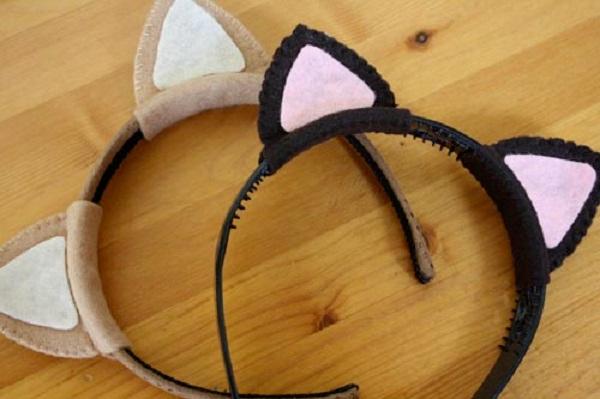 Как сделать своими руками ушки котика