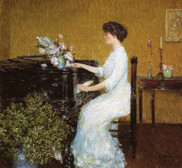 At the Piano (632x585, 391Kb)