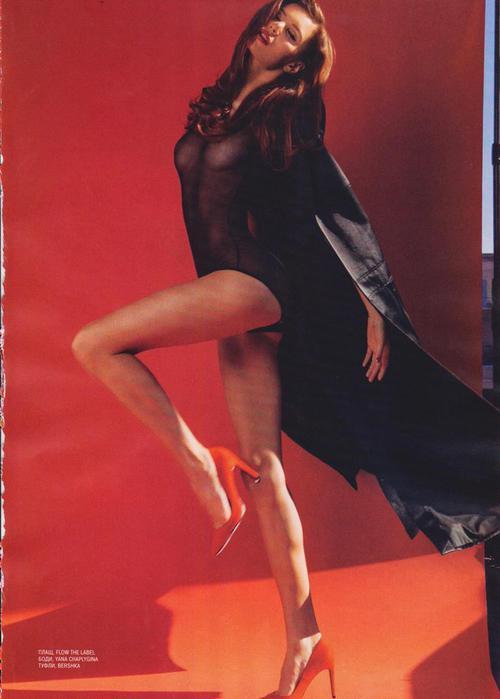 To See Red. Модель Наташа Дараган в журнале XXL