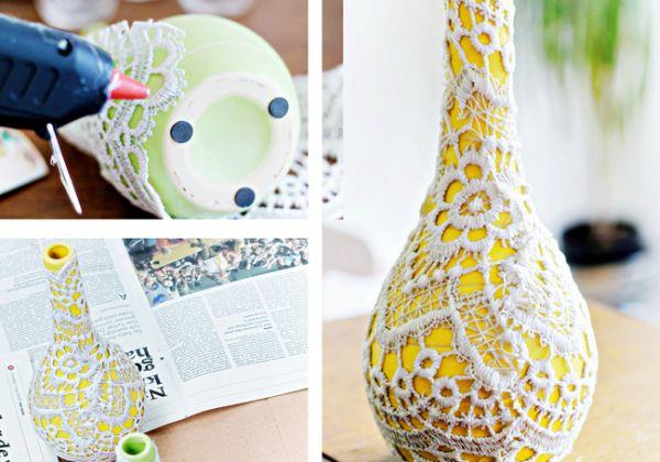 Декорирование вазочек для цветов кружевом (4) (600x420, 228Kb)
