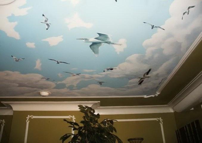 Облака на потолке своими руками