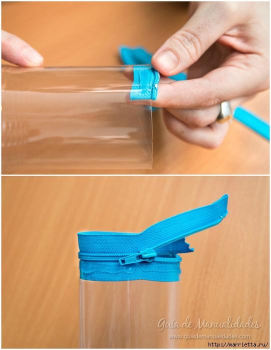 Органайзер или пенал из пластиковой бутылки (6) (542x700, 209Kb)