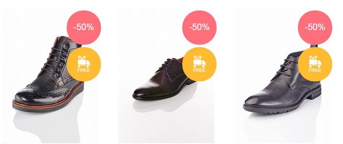 сезонная распродажа мужской обуви