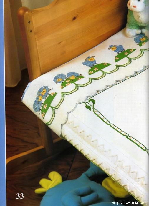 Овечки - вышивка крестом для детской кроватки (4) (506x700, 270Kb)