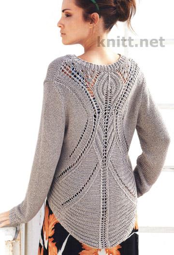 vyazanyj-spicami-pulover-s-azhurnoj-spinkoj (360x525, 69Kb)
