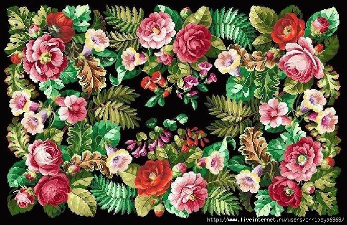 цветочный ковер (699x454, 340Kb)