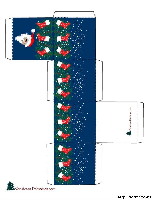 Новогодние коробочки. Шаблоны для распечатки (2) (540x700, 148Kb)