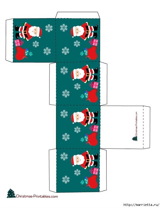 Новогодние коробочки. Шаблоны для распечатки (5) (540x700, 126Kb)