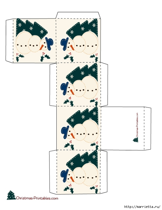 Новогодние коробочки. Шаблоны для распечатки (6) (540x700, 134Kb)