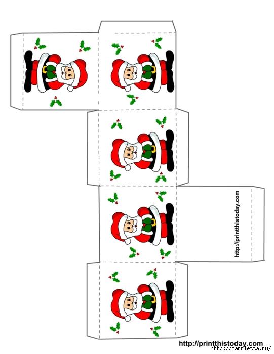 Новогодние коробочки. Шаблоны для распечатки (9) (541x700, 123Kb)