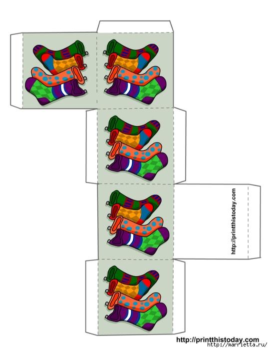 Новогодние коробочки. Шаблоны для распечатки (12) (541x700, 134Kb)