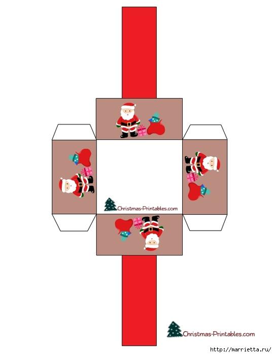 Новогодние коробочки. Шаблоны для распечатки (15) (540x700, 69Kb)